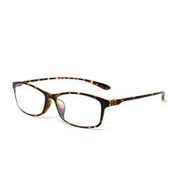 MIDI-ミディ 10カラーで遊べるPCダテめがね pcメガネ ブルーライトカット uvカット メンズ レディース パソコン用メガネ ブルーライトメガネ ブラウンデミ (M-209C10+0.00)