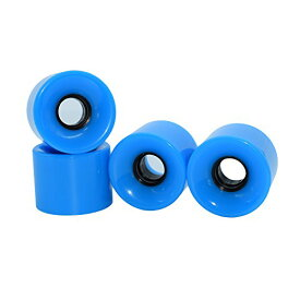 MARUFANG スケートボード スケボー ソフトウィール 60mm 4個セット (ブルー)
