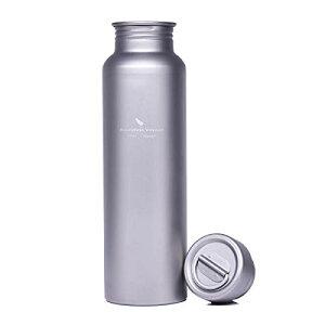 Boundless Voyage 純チタン水筒登山キャンプ用ボトル 超軽量アウトドアボトル ナイロンケース付き [800ml]