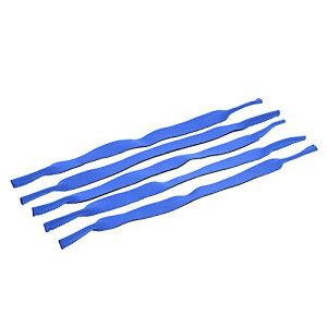 【5枚セット】メガネバンド スポーツバンド ずれ落ち防止 伸縮可能 軽量 スポーツ用 日常用(ブルー)