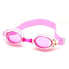 スイミングゴーグル 水泳ゴーグル 子供用 曇り止め UVカット 防水 調整可能 クリアな視界 フリーサイズ ケース付き 4-13歳の子供 男女兼用 (ピンク)