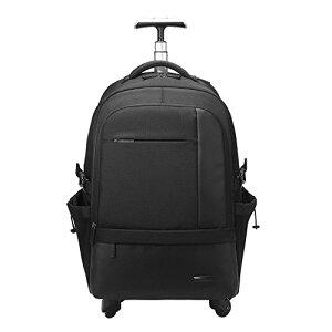 クロース(Kroeus)キャリーバッグ ソフト 3way 手提げ 機内持込 トロリーバッグ 人気 軽量 大容量 スーツケース 4輪キャスター リュック 旅行 出張 撥水加工 ブラック
