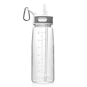 BOTTLED JOYストロー ボトル 水筒 ウォーターボトル800ml BPA FREE スポーツボトル 男女兼用 超軽量 耐冷耐熱 携帯便利 高い密封性 漏れ防止 直飲み 軽量 大人スポーツボトル