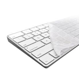 kwmobile 頑丈で極薄なキーボード保護 シリコン製 QWERTY (US) Apple Magic Keyboard用 透明 - 汚れや消耗からの効果的保護 マジック キーボード