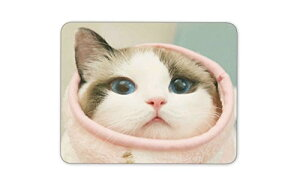 可愛い猫のマウスパッドー滑り止め加工処理 防水材質 疲労軽減 マウスパット