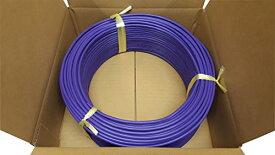 日本製線 高性能ギガビット伝送対応LANケーブル (Cat5e) 100m巻(紫色) 0.5 - 4P NSEDT (PU) (100)