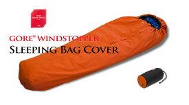 ヘリテイジ GORE WINDSTOPPER ゴアウインドストッパー シュラフカバー ファスナー付 Mサイズ オレンジ ブラック
