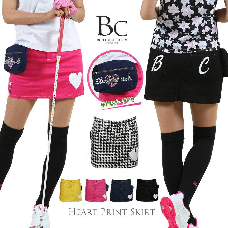 ゴルフウエア レディース スカート ゴルフスカート ゴルフ 定番 インナーパンツ一体型スカート 無地 ブラック 黒 イエロー ピンク ネイビー 千鳥 ボトム おしゃれ golf ブルークラッシュ