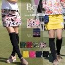 ゴルフウェア レディース ゴルフスカート 大きいサイズ ゴルフ スカート レディース 春 夏 インナーパンツ一体型スカート 無地 ブラック 黒 オフホワイト 白...