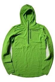 ノローナ ビティホーン ワーム1ストレッチ フーディ NORRONA bitihorn warm1 stretch Hoodie(Bamboo Green)【フリース/薄手/バックカントリー/登山/クライミング/トレイルランニング/速乾】