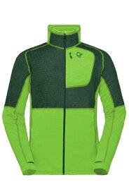 ノローナ リンゲンアルファ90 ロウジャケット NORRONA Lyngen Alpha90 Raw Jacket(Jungle Green)インサレーション,フリース,インナー,ポーラテック,アルファ