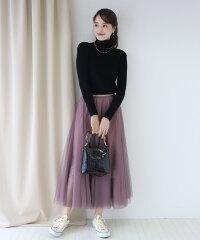 スカート【あす楽対応商品】チュールフレアースカート