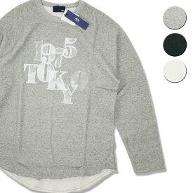 【セール】【50%OFF】1975 TOKYO MESHPRINT ROUND スウェットTシャツ メンズ/レディース グレー/ブラック/ホワイト M-XL