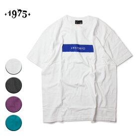 1975 TOKYO ボックスロゴTシャツ メンズ/レディース ホワイト/ブラック/パープル/グリーン M-L【Tシャツ 半袖 カットソー カジュアル サーフ ストリート ブランド ユニセックス 白 黒 紫 緑】