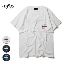 1975 TOKYO ポケットTシャツ メンズ/レディース ホワイト/ブラック/ネイビー M-XL【Tシャツ 半袖 カットソー バックプリント ポケT カジュアル サーフ ストリート ブランド ユニセックス 白 黒 紺】