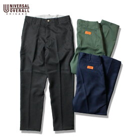 UNIVERSALOVERALL ユニバーサルオーバーオール OFFICER PANTS メンズ ブラック/カーキ/ネイビー S-L