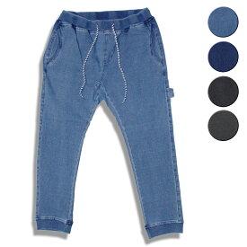 feel so easy/WEST SHORE ウエストショア Indigo Stretch Sweat Rib Pants 4カラー パンツ スウェットデニム デニム スウェット スエット インディゴ ブルー ブラック グレー メンズ レディース