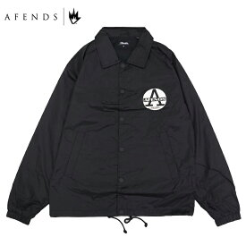 AFENDS アフェンズ REGISTER COACH JACKET メンズ ブラック S-L OOO
