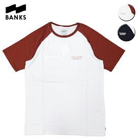 BANKS バンクス ROADY TEE メンズ/レディース ホワイト/ブラック S-L OOO