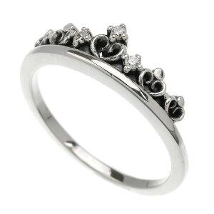 シルバー925 リング 指輪 ティアラ 王冠 クラウン ハート ジルコニア シルバーリング パーティー レディース アクセサリー 女性 大人 彼女 誕生日 プレゼント メール便無料