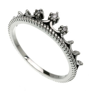 シルバー925 リング 指輪 ティアラ クラウン 王冠 ジルコニア シルバーリング パーティー レディース アクセサリー 女性 大人 彼女 誕生日 プレゼント メール便無料