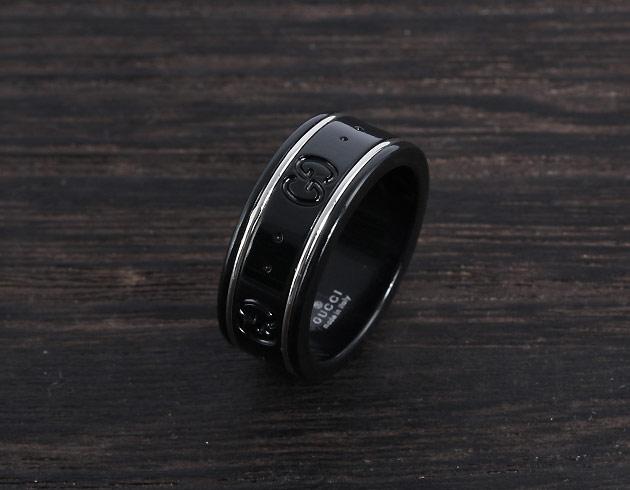 グッチ GUCCI リング【指輪】 GGアイコン ブラック 225985 I19A1 8061 メンズ レディース