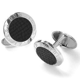 ダンヒル カフス アクセサリー メンズ アールデコ コイン シルバー&ブラック DU19RUS8204 040 DUNHILL
