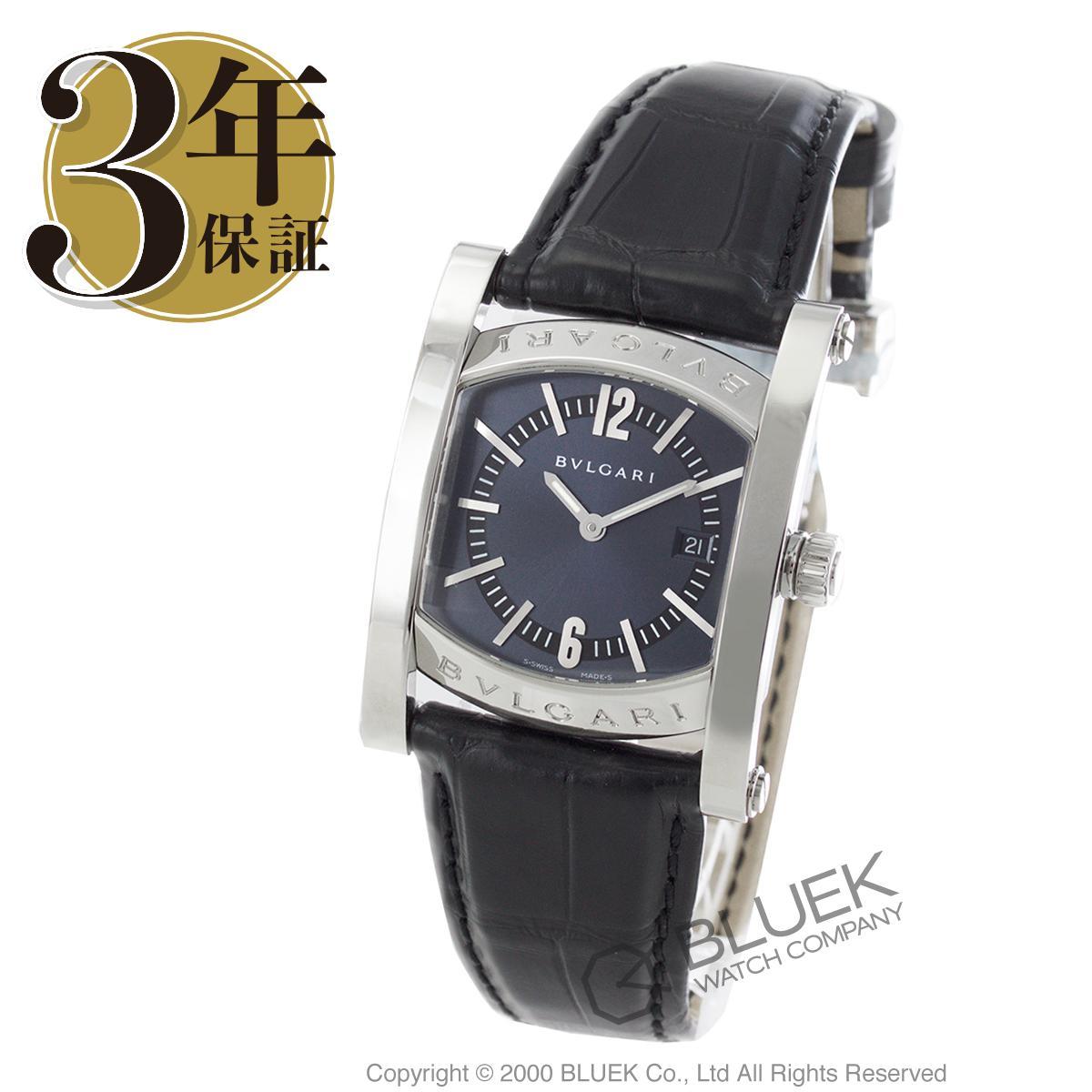 ブルガリ アショーマ アリゲーターレザー 腕時計 ユニセックス BVLGARI AA39C14SLD_8