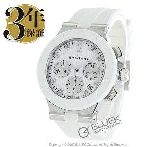 ブルガリディアゴノクロノグラフダイヤ腕時計レディースBVLGARIDG40WSWVDCH/11