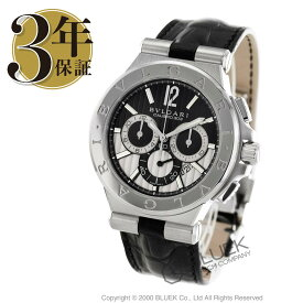 ブルガリ ディアゴノ カリブロ303 クロノグラフ アリゲーターレザー 腕時計 メンズ BVLGARI DG42BSLDCH_3