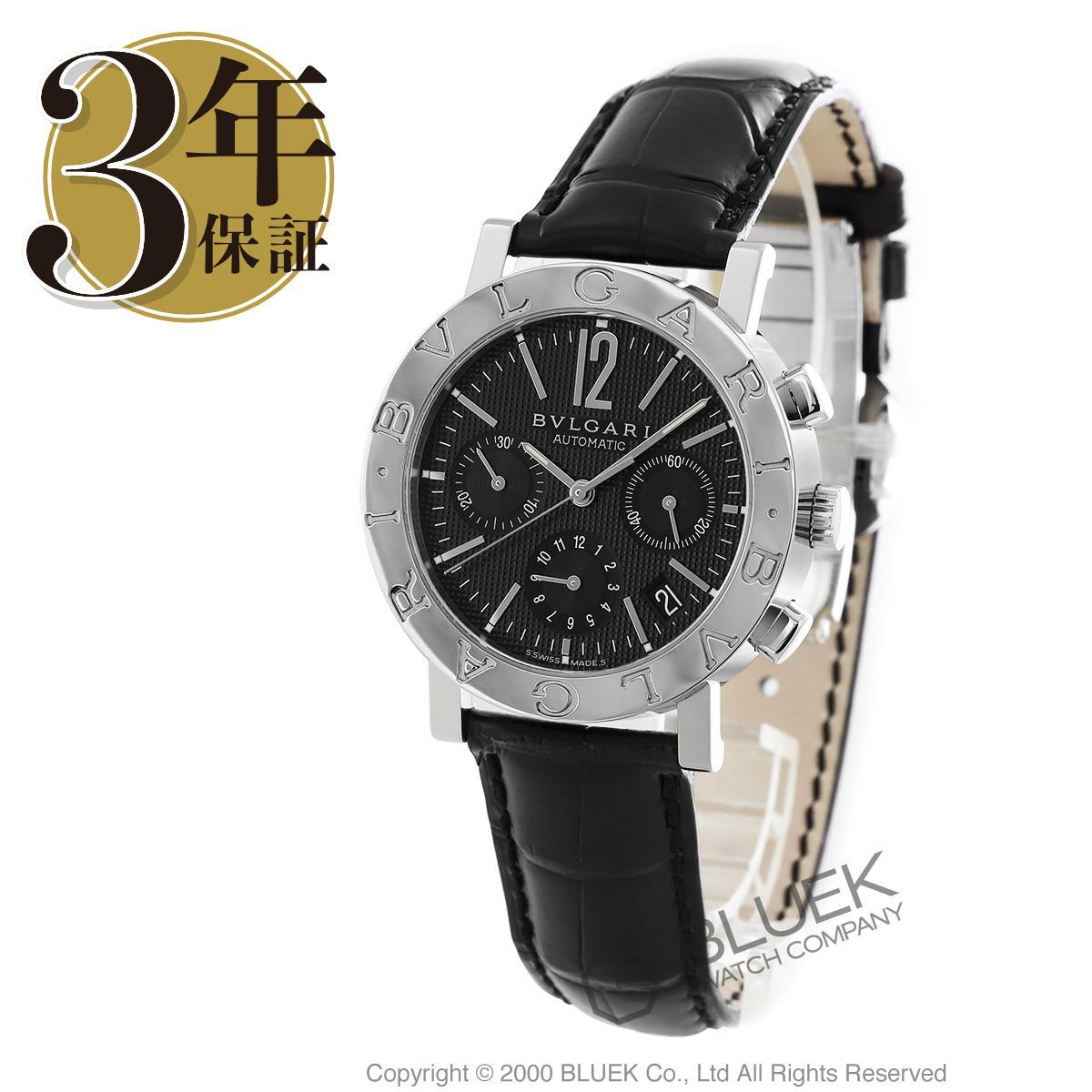 ブルガリ ブルガリブルガリ クロノグラフ アリゲーターレザー 腕時計 メンズ BVLGARI BB38BSLDCH_8