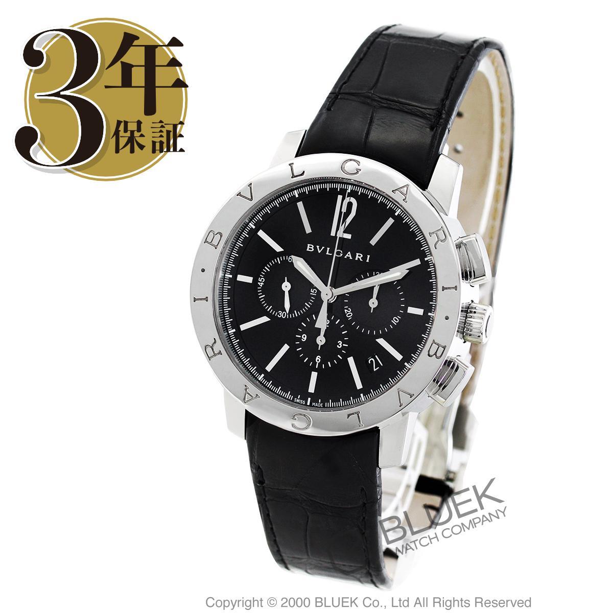 ブルガリ ブルガリブルガリ クロノグラフ アリゲーターレザー 腕時計 メンズ BVLGARI BB41BSLDCH_8