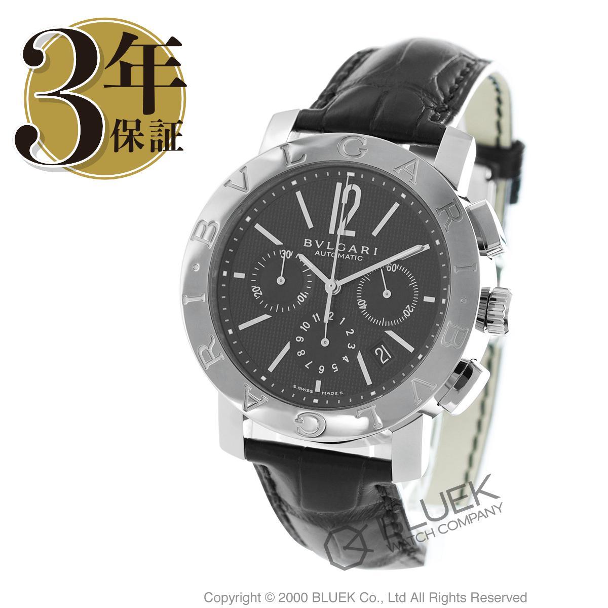 ブルガリ ブルガリブルガリ クロノグラフ アリゲーターレザー 腕時計 メンズ BVLGARI BB42BSLDCH_8