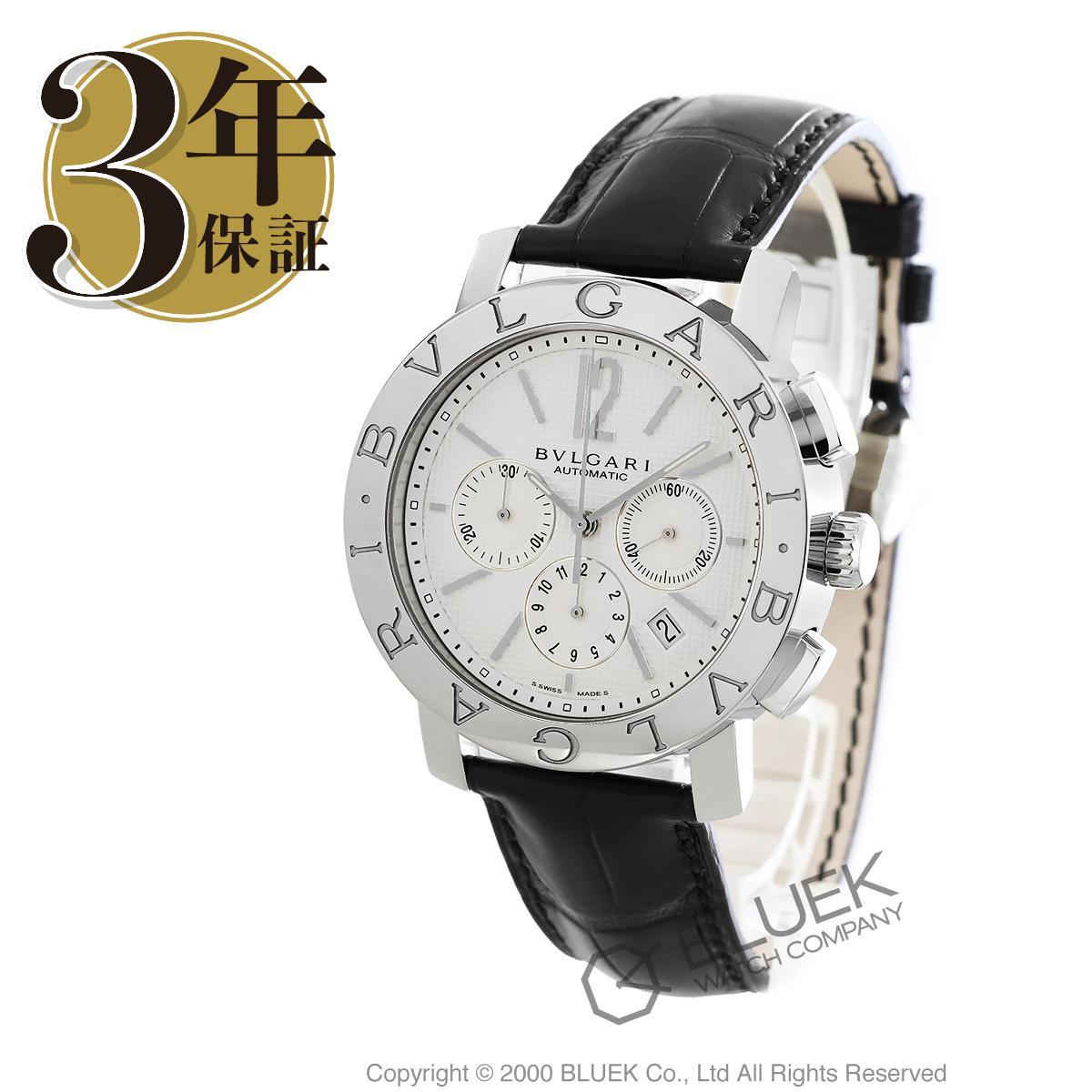 ブルガリ ブルガリブルガリ クロノグラフ アリゲーターレザー 腕時計 メンズ BVLGARI BB42WSLDCH_8