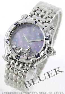 ショパールハッピースポーツダイヤインデックス Capricornus blue shell Lady's 28/8432/1 watch clock
