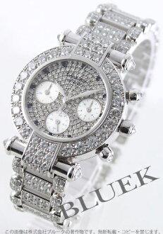 ショパールインペリアルクロノ WG pure gold diamond & silver Lady's 38/3212-20 watch clock