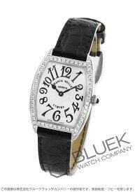 フランクミュラー トノーカーベックス ダイヤ クロコレザー 腕時計 レディース FRANCK MULLER 1752 QZ DP[FM1752QZDSSSLENBK]