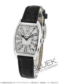 フランクミュラー トノーカーベックス レリーフ クロコレザー 腕時計 レディース FRANCK MULLER 1752 QZ REL[FM1752QZSSSLLZBKR]
