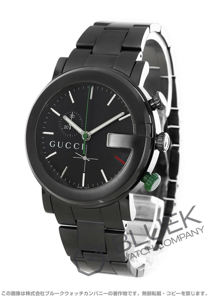グッチ Gラウンド クロノグラフ 腕時計 メンズ GUCCI YA101331