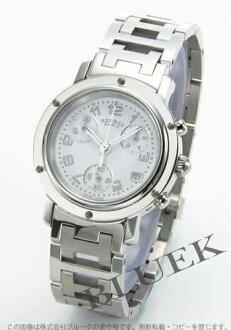 Hermes Clipper chronograph white ladies CL1.310.132/3780