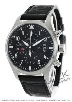 IWC pilot's watch with crocodile leather men's IW377701