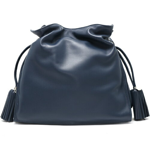 loewe loewe bag flamenco indigo blue h ladies
