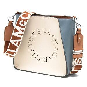 ステラマッカートニー ショルダーバッグ バッグ レディース ステラ ロゴ ミニ ペールホワイト&カメオブルー&キャメルブラウン 700073 W8809 T851 STELLA McCARTHNEY
