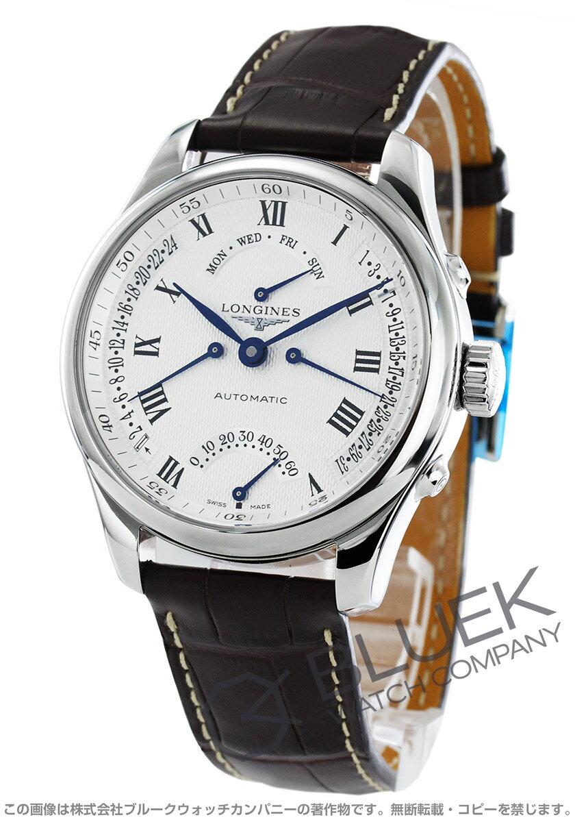 ロンジン LONGINES 腕時計 マスターコレクション 4レトログラード アリゲーターレザー メンズ L2.715.4.71.3