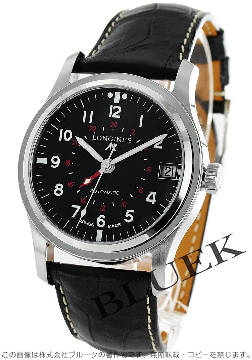 ロンジン ヘリテージ アヴィゲーション GMT アリゲーターレザー 腕時計 メンズ LONGINES L2.831.4.53.2 バーゲン ギフト プレゼント