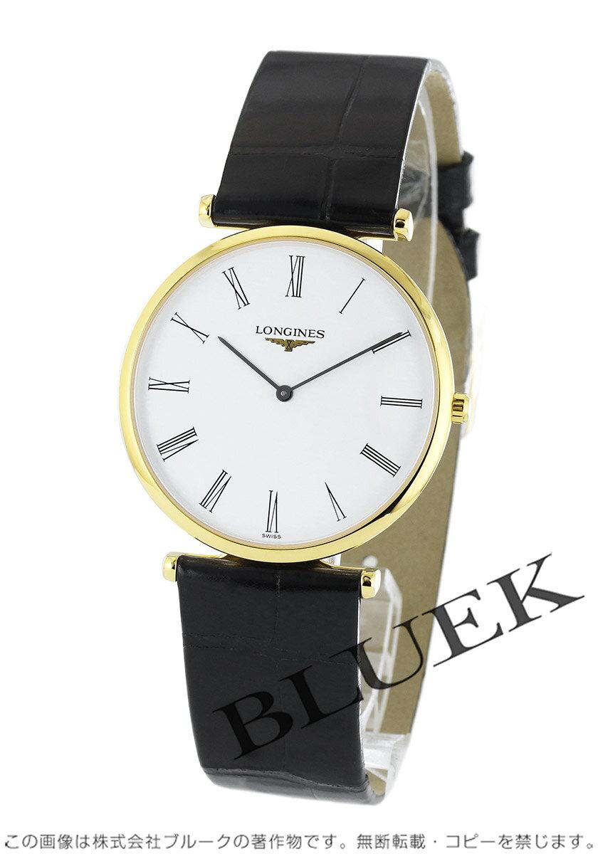 ロンジン LONGINES 腕時計 グランドクラシック アリゲーターレザー メンズ L4.709.2.11.2