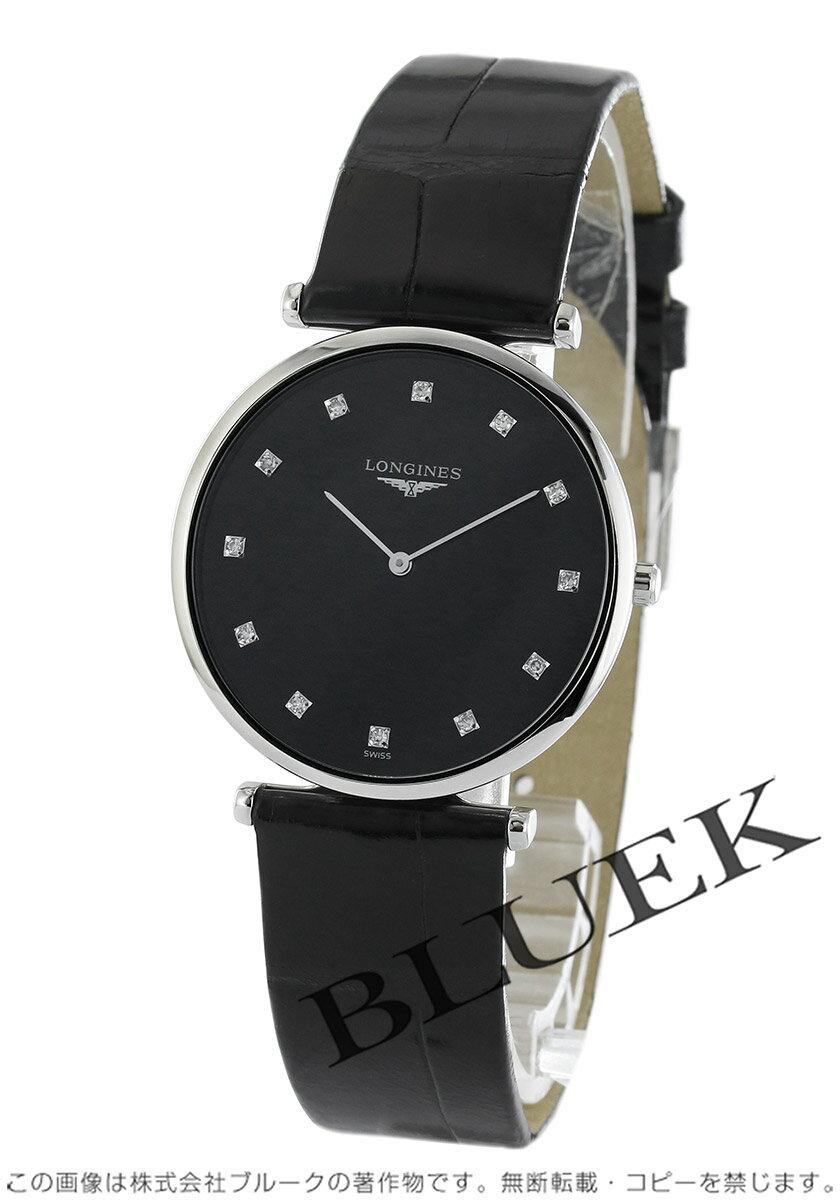 ロンジン LONGINES 腕時計 グランドクラシック ダイヤ アリゲーターレザー メンズ L4.709.4.58.2
