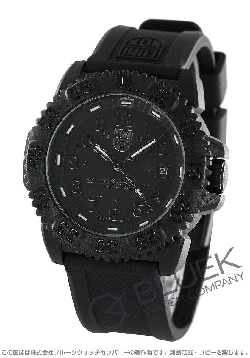 ルミノックス LUMINOX 腕時計 ネイビーシール カラーマーク ブラックアウト メンズ 3051.BO