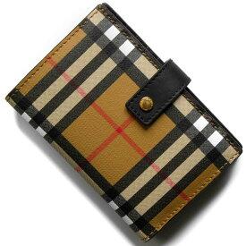 1739317e2532 バーバリー 二つ折り財布 財布 メンズ レディース メリルボーン ヴィンテージチェック アンティークイエローベージュ&ブラック