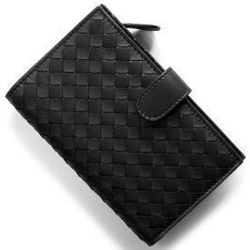 ボッテガヴェネタ (ボッテガ・ヴェネタ) 二つ折り財布 財布 メンズ レディース イントレチャート ブラック 121060 V001N 1000 BOTTEGA VENETA